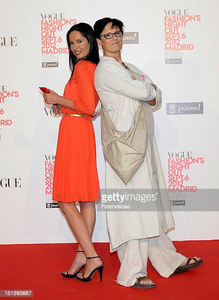 Ana Aurion and Lucia Dominguin attend Vogue Fashion Night Out Madrid 2012 on September 6, 2012 in Madrid, Spain.