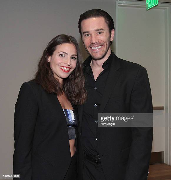 Ana Ayora and Tom Pelphey attend Cinemax's 'Banshee' fourth and final season premiere at UTA Theater on March 31 2016 in Los Angeles California