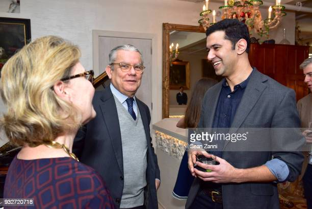 Ana Azevedo Roberto Azevedo and Author Chris Babu attend 'The Initiation' Book Launch at Bouley TK on March 15 2018 in New York City