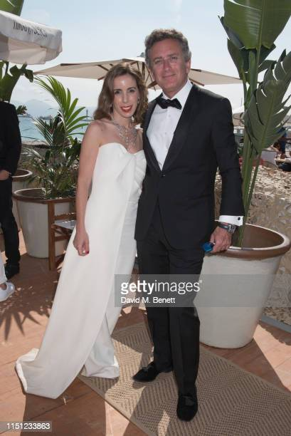 Ana Aznar Botella and Alejandro Agag attend a cocktail party hosted by Alejandro Agag ahead of the World Premiere of the Formula E documentary And We...