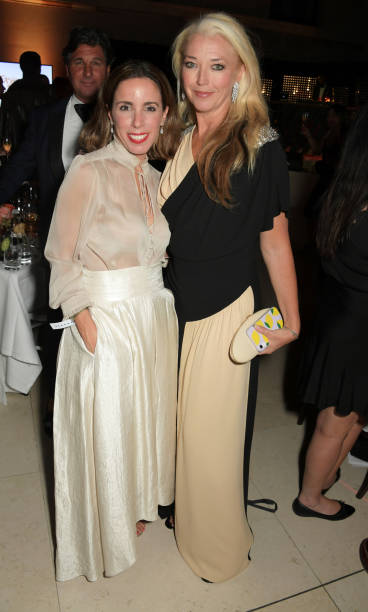 Ana Aznar Botella and Tamara Beckwith attend the Fashion For Relief London 2019 after party at The British Museum on September 14 2019 in London...