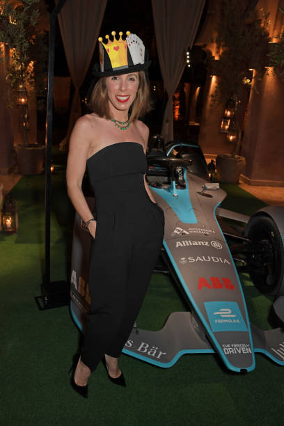 Ana Aznar Botella attends The ABB FIA Formula E Mad Hatters Moroccan Tea Party in celebration of the 2020 Marrakesh EPrix at the Hotel Amanjena on...