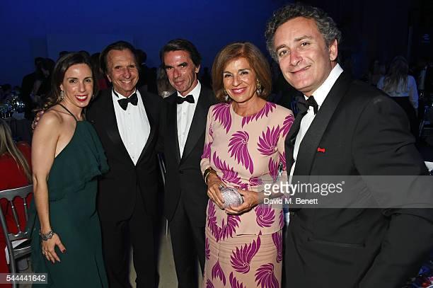 Ana Aznar Botella Emerson Fittipaldi Jose Maria Aznar Ana Botella and Alejandro Agag attend the 2016 FIA Formula E Visa London ePrix gala dinner at...