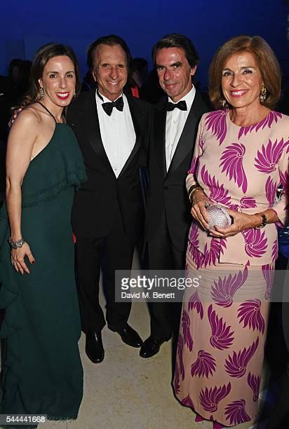 Ana Aznar Botella Emerson Fittipaldi Jose Maria Aznar and Ana Botella attend the 2016 FIA Formula E Visa London ePrix gala dinner at The British...