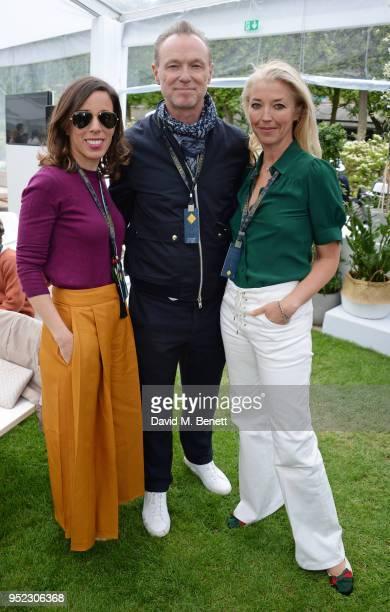 Ana Aznar Botella Gary Kemp and Tamara Beckwith attend the ABB FIA Formula E Qatar Airways Paris EPrix 2018 on April 28 2018 in Paris France