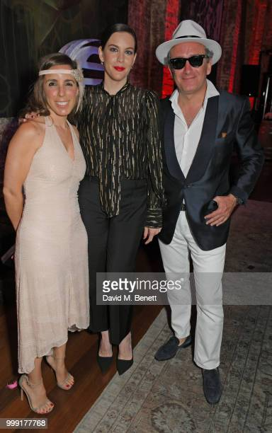 Ana Aznar Botella Liv Tyler and Alejandro Agag attend the Formula E 1920's cocktail party hosted by Liv Tyler on the eve of the final race of the...