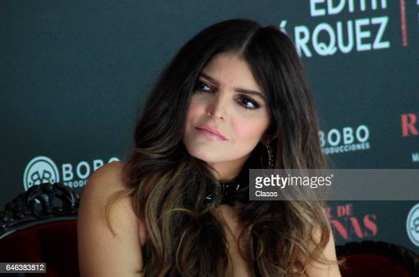 Ana Barbara attends a press conference tu announce the tour ' Par de Reinas' at Hacienda de Los Morales on February 27 2017 in Mexico City Mexico
