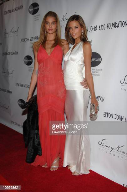 Ana Beatriz Barros and Allesandra Ambrosio during An Enduring Vision A Benefit for The Elton John AIDS Foundation at Cipriani Wall Street in New York...