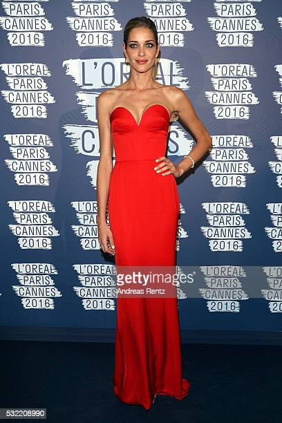 Ana Beatriz Barros attends the L'Oreal Paris Blue Obsession Party at the annual 69th Cannes Film Festival at Hotel Martinez on May 18 2016 in Cannes...