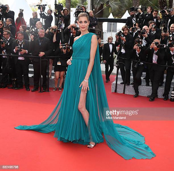 Ana Beatriz Barros attends the 'The Unkown Girl ' premiere during the 69th annual Cannes Film Festival at the Palais des Festivals on May 18 2016 in...