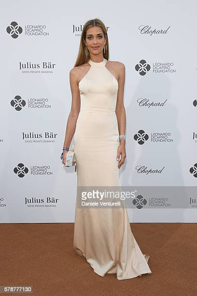 Ana Beatriz Barros poses at the photocall during The Leonardo DiCaprio Foundation 3rd Annual SaintTropez Gala at Domaine Bertaud Belieu on July 20...