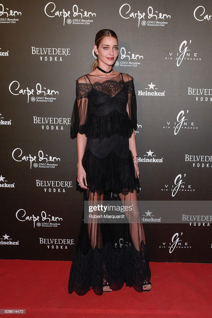 Ana Beatriz Barros Attends 'Flower Power' Party in Barcelona