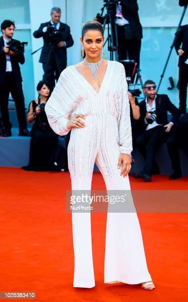 Ana Beatriz Barros walks the red carpet ahead of the 'Roma' screening during the 75th Venice Film Festival in Venice Italy on August 30 2018