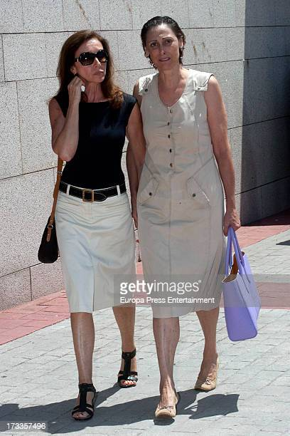 Ana Belen and Maria Barranco attend the funeral chapel for the journalist Concha Garcia Campoy at La Paz Morgue on July 12 2013 in Madrid Spain