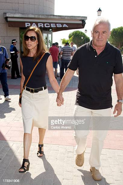 Ana Belen and Victor Manuel attend the funeral chapel for the journalist Concha Garcia Campoy at La Paz Morgue on July 12 2013 in Madrid Spain
