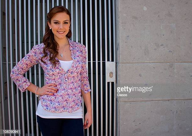 Ana Belena during the recording of the Mexican soap opera Lo Que Callamos Las Mujeres on Januarry 14 2011 in Mexico City Mexico