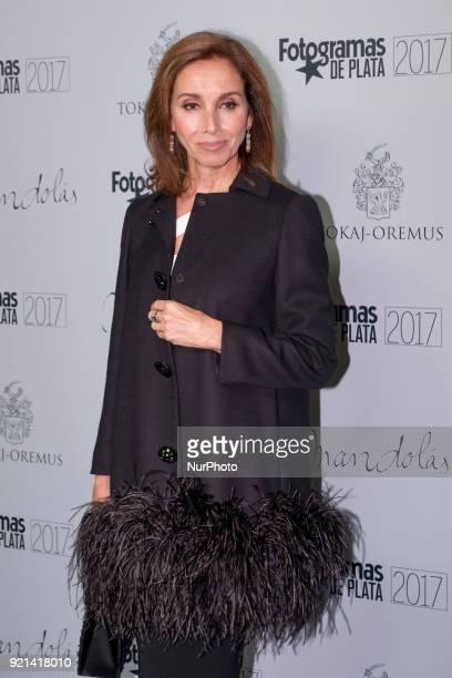 Ana Belén arrives at the Fotogramas de Plata 2017 Awards nominees' formal diner in Madrid Spain 19 February 2018 Spanish cinema magazine 'Fotogramas'...
