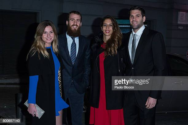 Ana Bernal Chacho Rodriguez Kirenia Cabrera and Felipe Reyes are seen on December 9 2015 in Madrid Spain