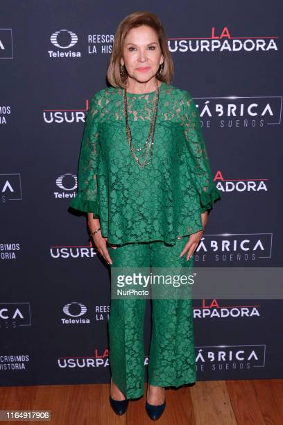 Ana Bertha Espin poses for photos during a red carpet of premiere 'La Usurpadora' Tv Screening soap opera at Club de Banqueros on August 29 2019 in...