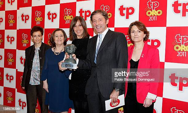 Ana Blanco and Jesus Alvarez attend 'TP de Oro' Television Awards 2012 at the Canal Theater on February 13 2012 in Madrid Spain