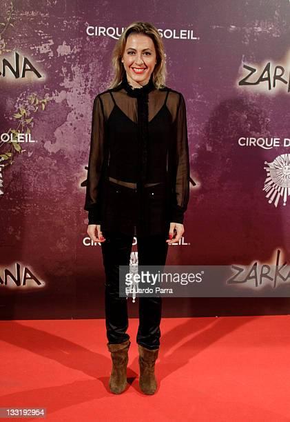 Ana Blanco attends 'Zarkana' premiere at Madrid Arena on November 17 2011 in Madrid Spain