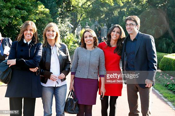 Ana Blanco Maria Casado Pepa Bueno Ana Pastor and Marcos Lopez attend the press conference for the 58th Ondas Awards 2011 at the Palauet Albeniz on...