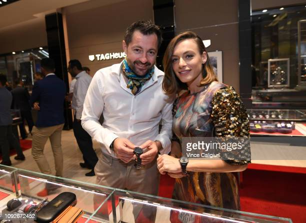 Ana Bogdan of Romania at the Unveiling of Tag Heuer's Global Tennis Ambassadors at the Tag Heuer Boutique on January 11 2019 in Melbourne Australia