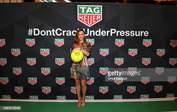 Ana Bogdan of Romania poses at the Unveiling of Tag Heuer's Global Tennis Ambassadors at the Tag Heuer Boutique on January 11 2019 in Melbourne...