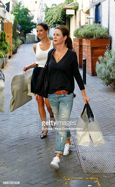Ana Bono and Amelia Bono are seen on September 14 2015 in Madrid Spain
