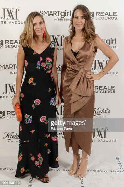 Ana Bono and Andrea Pascual attend the 'Jorge Vazquez afterparty' photocall at Ventura street on July 11 2018 in Madrid Spain