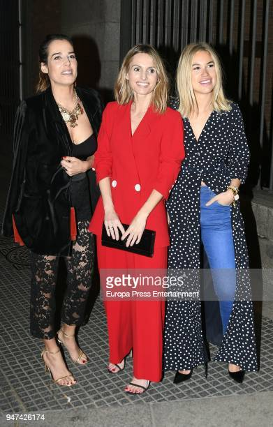 Ana Bono and Andrea Pascual attend the 'Time Capsule' Inauguration party at ThyssenBornemisza Museum on April 16 2018 in Madrid Spain