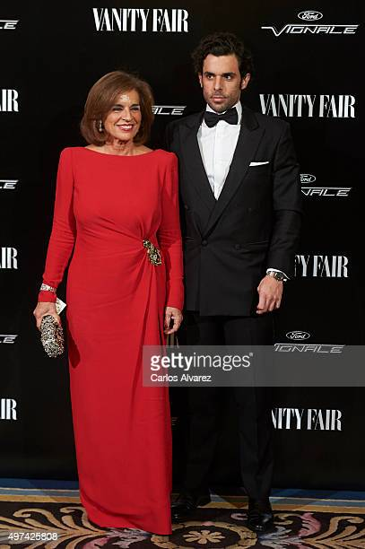 Ana Botella and Alonso Aznar Botella attend the 'Vanity Fair Personality Of The Year' Gala at the Hotel Ritz on November 16 2015 in Madrid Spain