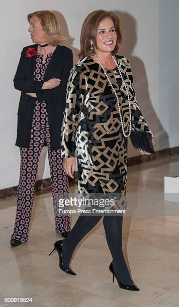 Ana Botella and Catalina Luca de Tena attend a dinner in honour of 'Mariano de Cavia' 'Mingote' and 'Luca de Tena' awards winners on December 10 2015...