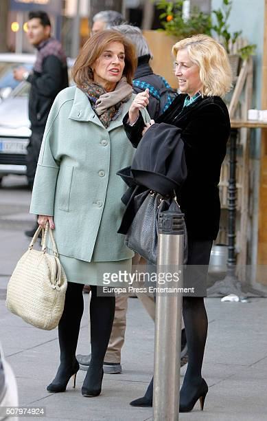 Ana Botella and Concepcion Dancausa are seen on February 1 2016 in Madrid Spain