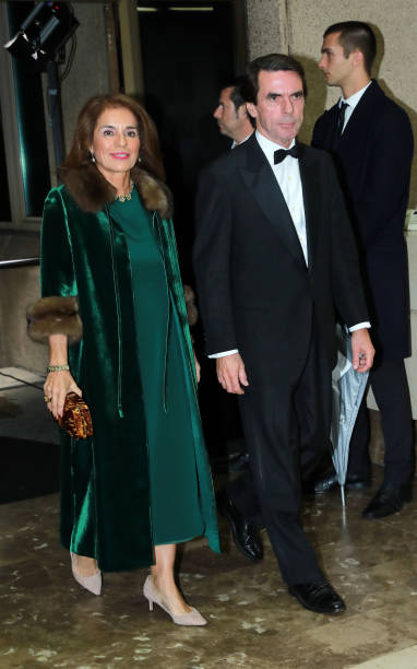 Ana Botella and Jose María Aznar attend 98th annual ABC International Journalism Awards at Casa de ABC on December 03 2019 in Madrid Spain