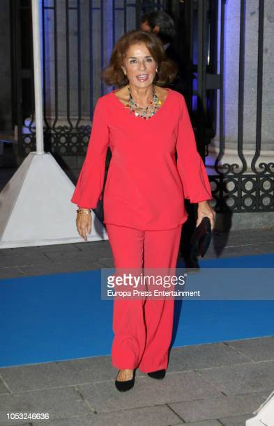 Ana Botella attends the 33th edition of BMW Painting Award at the Royal Theatre on October 24 2018 in Madrid Spain