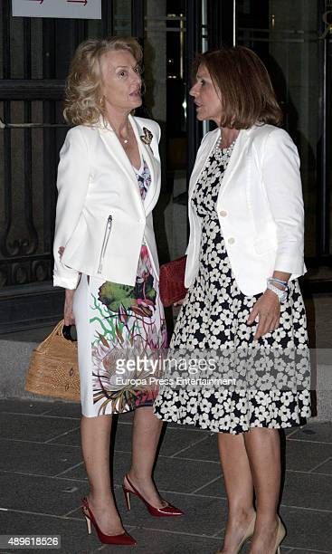 Ana Botella attends the opening of the Royal Theatre new season on September 22 2015 in Madrid Spain