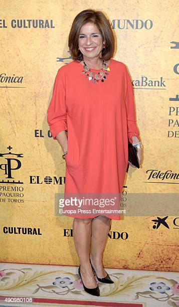 Ana Botella attends the Paquiro Bullfighting Award Ceremony on October 1 2015 in Madrid Spain