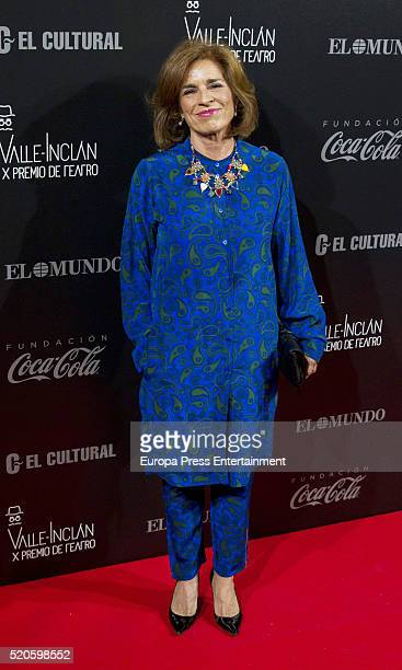 Ana Botella attends the ValleInclan Theatre Awards at Teatro Real on April 11 2016 in Madrid Spain