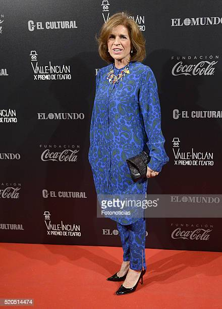 Ana Botella attends the ValleInclan Theatre Awards at the Teatro Real on April 11 2016 in Madrid Spain