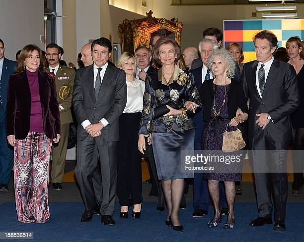 Ana Botella Ignacio Gonzalez Eugenia Martinez de Irujo Queen Sofia of Spain Cayetana FitzJames Stuart Duchess of Alba and her husband Alfonso Diez...