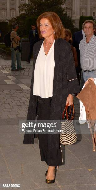 Ana Botella is seen arriving at Opera on October 11 2017 in Madrid Spain
