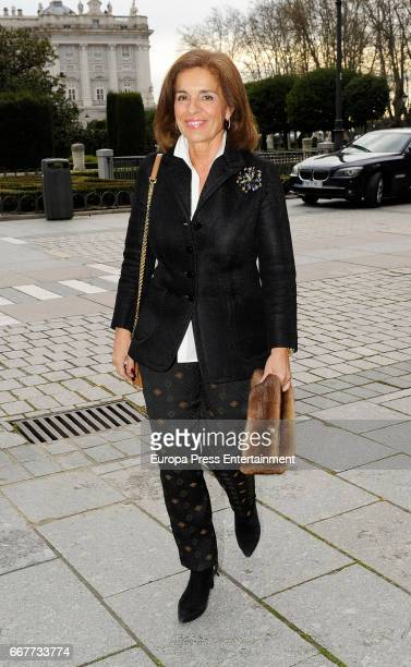 Ana Botella is seen going to the opera at Royal Theatre on March 24 2017 in Madrid Spain