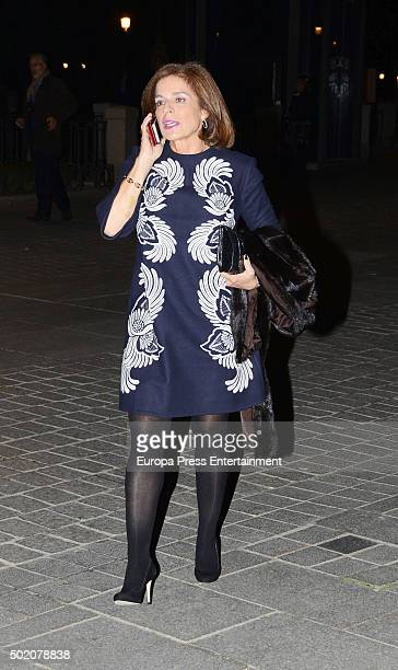 Ana Botella is seen leaving 'Rigoletto' opera on November 30 2015 in Madrid Spain