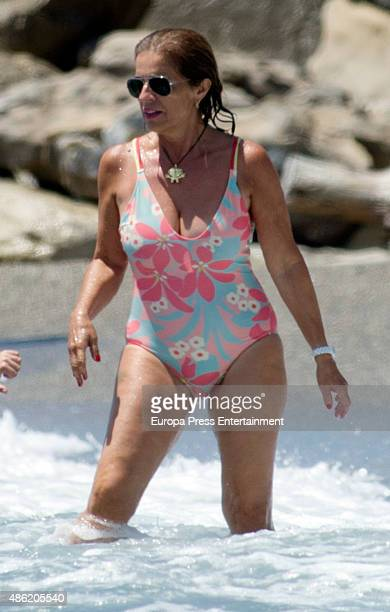 Ana Botella is seen on July 18 2015 in Marbella Spain