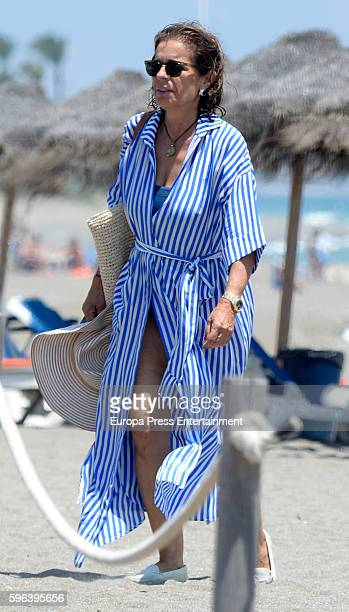 Ana Botella is seen on July 23 2016 in Marbella Spain