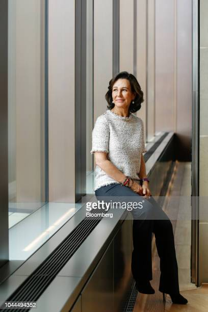 Ana Botin chairman of Banco Santander SA poses for a photograph following a Bloomberg Television interview in London UK on Tuesday Oct 2 2018 Botin a...