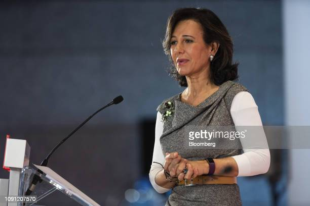 Ana Botin chairman of Banco Santander SA speaks during a news conference in Boadilla del Monte Spain on Wednesday Jan 30 2019 Were very very focused...