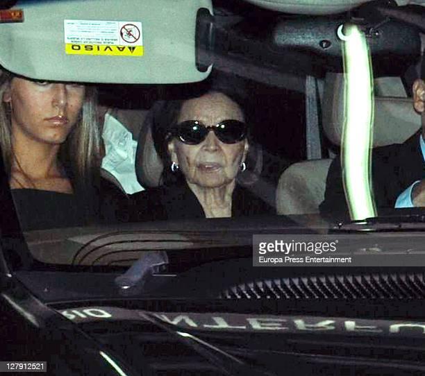 Ana Boyer and Betty Arrastia visit San Isidro morgue following the death of Beatriz Preysler on October 2 2011 in Madrid Spain Beatriz Preysler...