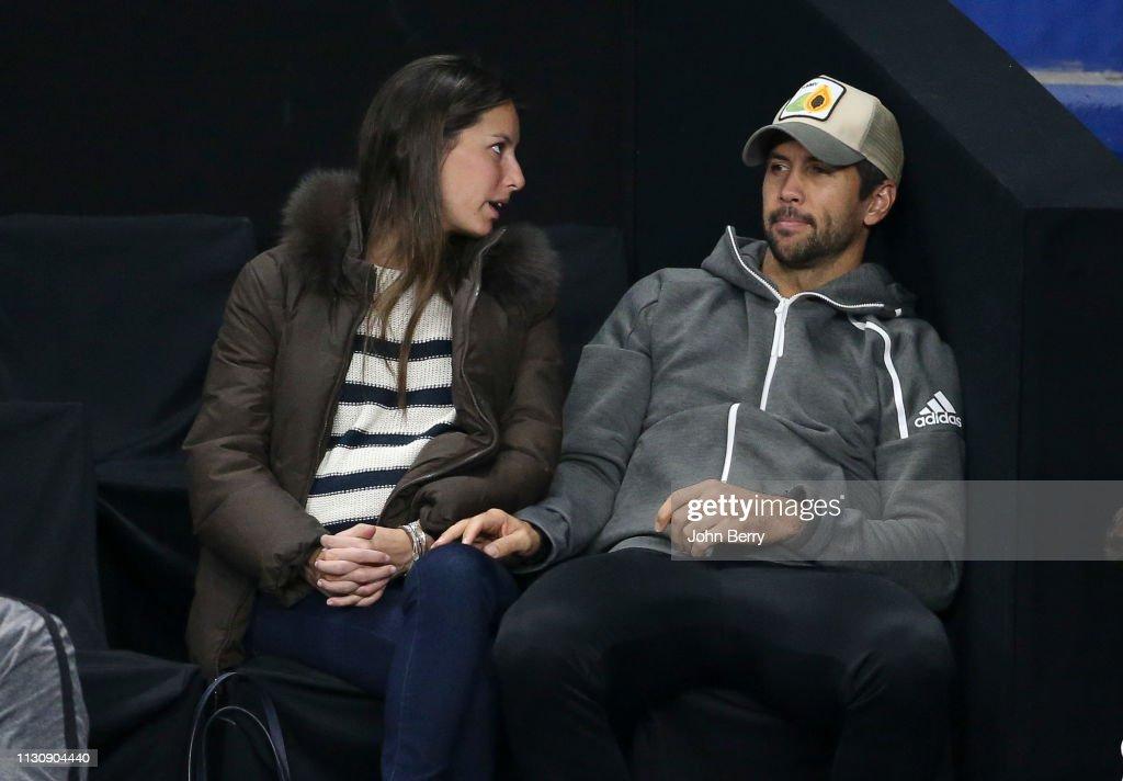 FRA: Fernando Verdasco And Ana Boyer Attend  Tennis Match At ATP in Marseille